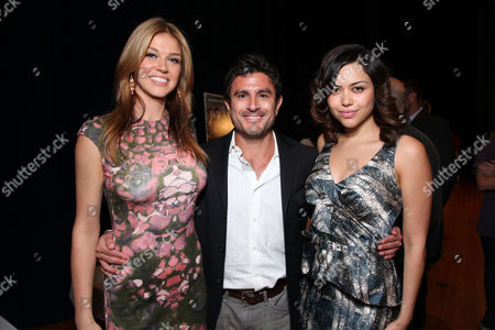 Stock Image of PORT HUENEME, CA - NOVEMBER 13: Adrianne Palicki, Producer Vincent Newman and Alyssa Diaz at 'Red Dawn' Military Base Special Screening on November 13, 2012 in Port Hueneme, California. Adrianne Palicki Vincent Newman Alyssa Diaz