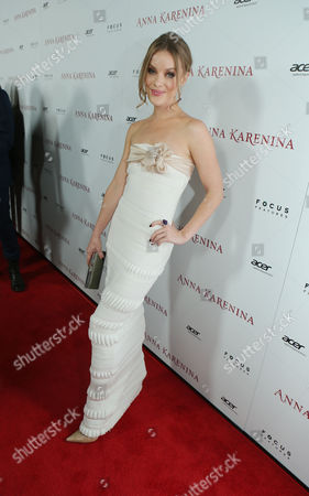 Stock Image of HOLLYWOOD, CA - NOVEMBER 14: Guro Schia at Focus Features 'Anna Karenina' Los Angeles Premiere Sponsored By ACER held at ArcLight Hollywood on November 14, 2012 in Hollywood, California. Guro Schia