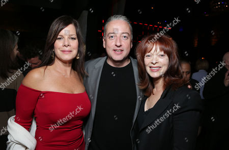 HOLLYWOOD, CA - NOVEMBER 14: Marsha Gay Harden, Director of Photography Seamus McGarvey and Frances Fisher at Focus Features 'Anna Karenina' Los Angeles Premiere Sponsored By ACER held at ArcLight Hollywood on November 14, 2012 in Hollywood, California. Seamus McGarvey Marsha Gay Harden