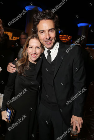 Stock Image of BEVERLY HILLS, CA - NOVEMBER 15: Alli Shearmur and Director Shawn Levy at the 26th Annual American Cinematheque Award Ceremony Honoring Ben Stiller held at The Beverly Hilton Hotel on November 15, 2012 in Beverly Hills, California. Alli Shearmur Director Shawn Levy