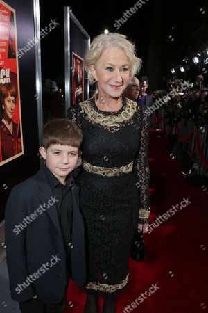 BEVERLY HILLS, CA - NOVEMBER 20: Felix Mirren and Helen Mirren at Fox Searchlight Pictures' 'Hitchcock' Los Angeles Premiere held at AMPAS Samuel Goldwyn Theater on November 20, 2012 in Beverly Hills, California. Felix Mirren Helen Mirren
