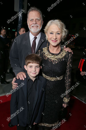 BEVERLY HILLS, CA - NOVEMBER 20: Taylor Hackford, Helen Mirren and Felix Mirren at Fox Searchlight Pictures' 'Hitchcock' Los Angeles Premiere held at AMPAS Samuel Goldwyn Theater on November 20, 2012 in Beverly Hills, California. Taylor Hackford Helen Mirren Felix Mirren