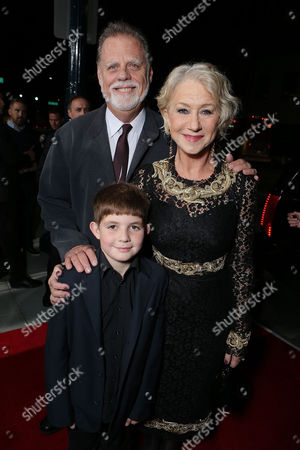 BEVERLY HILLS, CA - NOVEMBER 20: Taylor Hackford , Helen Mirren and Felix Mirren at Fox Searchlight Pictures' 'Hitchcock' Los Angeles Premiere held at AMPAS Samuel Goldwyn Theater on November 20, 2012 in Beverly Hills, California. Taylor Hackford Helen Mirren Felix Mirren