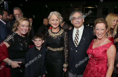 BEVERLY HILLS, CA - NOVEMBER 20: Fox Searchlight President Nancy Utley, Felix Mirren, Helen Mirren, Fox Searchlight President Steve Gilula and President of Production, Fox Searchlight Claudia Lewis at Fox Searchlight Pictures' 'Hitchcock' Los Angeles Premiere held at AMPAS Samuel Goldwyn Theater on November 20, 2012 in Beverly Hills, California. Nancy Utley Felix Mirren Helen Mirren Steve Gilula Claudia Lewis