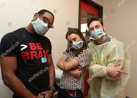 LOS ANGELES, CA - NOVEMBER 26: Stephen 'tWitch' Boss, Kathryn McCormick and Ryan Guzman at 'Step Up Revolution' DVD holiday screening at Children's HospitalÊLos Angeles on November 26, 2012 in Los Angeles, California. Stephen 'tWitch' Boss Kathryn McCormick Ryan Guzman
