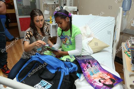 Editorial photo of 'Step Up Revolution' DVD holiday screening at Children's HospitalÊLos Angeles