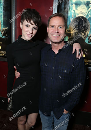 HOLLYWOOD, CA - NOVEMBER 26: Emma Fitzpatrick and LD Entertainment's Mickey Liddell at LD Entertainment Special Screening of 'The Collection' at ArcLight Hollywood on November 26, 2012 in Hollywood, California. Emma Fitzpatrick Mickey Liddell