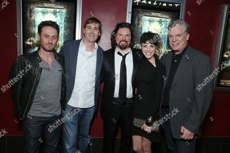 HOLLYWOOD, CA - NOVEMBER 26: Josh Stewart, Writer Patrick Melton, Writer/Director Marcus Dunstan, Emma Fitzpatrick and Christopher McDonald at LD Entertainment Special Screening of 'The Collection' at ArcLight Hollywood on November 26, 2012 in Hollywood, California. Josh Stewart Patrick Melton Marcus Dunstan Emma Fitzpatrick Christopher McDonald
