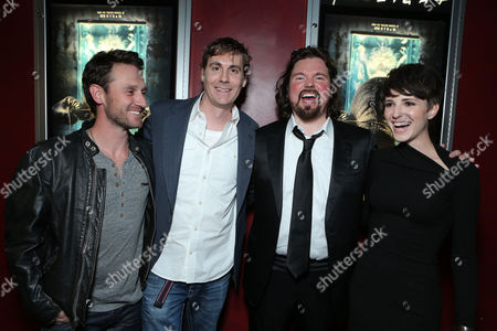 HOLLYWOOD, CA - NOVEMBER 26: Josh Stewart, Writer Patrick Melton, Writer/Director Marcus Dunstan and Emma Fitzpatrick at LD Entertainment Special Screening of 'The Collection' at ArcLight Hollywood on November 26, 2012 in Hollywood, California. Josh Stewart Patrick Melton Marcus Dunstan Emma Fitzpatrick
