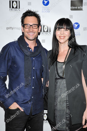 BEVERLY HILLS, CA - NOVEMBER 30: Lawrence Zarian and Mila Hermanovski at the VIP Shopping Party of Project Angel Food's Divine Design 2012 Presented by Time Warner Cable held at Divine Design Market Place on November 30, 2012 in Beverly Hills, California. Lawrence Zarian Mila Hermanovski
