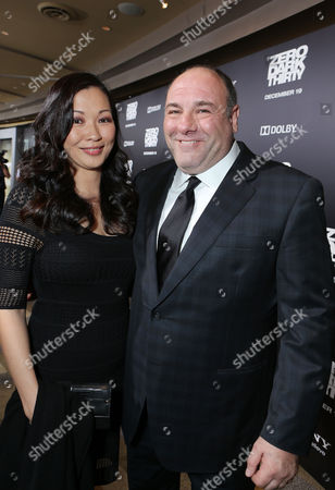 HOLLYWOOD, CA - DECEMBER 10: Deborah Lin and husband James Gandolfini at Columbia Pictures 'Zero Dark Thirty' Premiere at Dolby Theatre on December 10, 2012 in Hollywood, California. Deborah Lin James Gandolfini