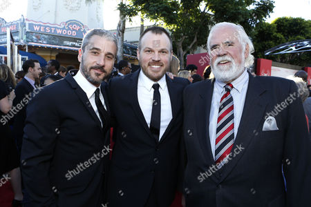 WESTWOOD, CA - JUNE 28: Producer Matt Tolmach, Director Marc Webb and Sony's Jeff Blake at Columbia Pictures Premiere of 'The Amazing Spider-Man' at Regency Village Theatre on June 28, 2012 in Westwood, California.