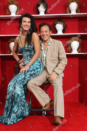 HOLLYWOOD, CA - MAY 28: Natalia Guslistaya and Rob Schneider at the World Premiere of Columbia Pictures' 'You Don't Mess with the Zohan' on May 28, 2008 at Grauman's Chinese Theatre in Hollywood, CA.