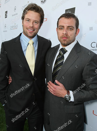 LOS ANGELES, CA - MAY 31: Actor Brad Rowe and Ernst Benz' Lenny Khankin arrive at the 7th Annual Chrysalis Butterfly Ball held at a private residence on May 31, 2008 in Los Angeles, California. Brad Rowe Lenny Khankin