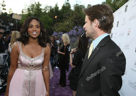 LOS ANGELES, CA - MAY 31: Actress Sharon Leal and actor Brad Rowe arrive at the 7th Annual Chrysalis Butterfly Ball held at a private residence on May 31, 2008 in Los Angeles, California. Sharon Leal Brad Rowe