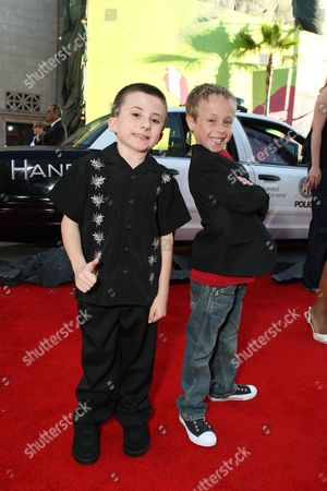 HOLLYWOOD, CA - JUNE 30: Atticus Shaffer and Jae Head at the Premiere of Columbia Pictures' 'Hancock' on June 30, 2008 at the Grauman's Chinese Theatre in Hollywood, CA.