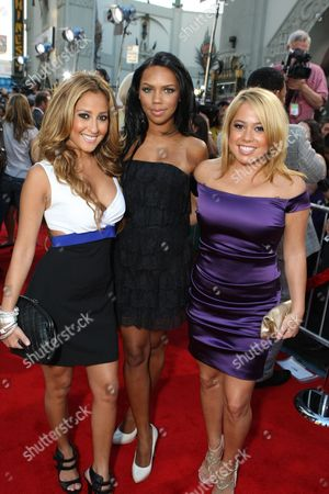 Stock Picture of HOLLYWOOD, CA - JUNE 30: Adrianne Bailon, Kiely Williams and Sabrina Bryan at the Premiere of Columbia Pictures' 'Hancock' on June 30, 2008 at the Grauman's Chinese Theatre in Hollywood, CA.