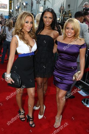 Stock Photo of HOLLYWOOD, CA - JUNE 30: Adrianne Bailon, Kiely Williams and Sabrina Bryan at the Premiere of Columbia Pictures' 'Hancock' on June 30, 2008 at the Grauman's Chinese Theatre in Hollywood, CA.