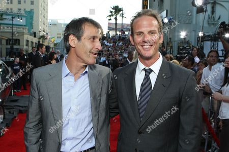 HOLLYWOOD, CA - JUNE 30: Sony's Michael Lynton and Director Jeff Berg at the Premiere of Columbia Pictures' 'Hancock' on June 30, 2008 at the Grauman's Chinese Theatre in Hollywood, CA.