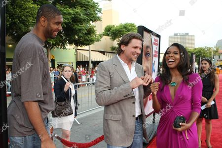 WESTWOOD, CA - JULY 08: Tim Duncan, Marc Blucas and Gabrielle Union at 20th Century Fox World Premiere of 'Meet Dave' on July 08, 2008 at the Mann Village Theatre in Westwood, CA.