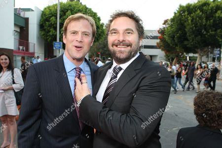 WESTWOOD, CA - JULY 08: Producer Jon Berg and Producer Todd Komarnicki at 20th Century Fox World Premiere of 'Meet Dave' on July 08, 2008 at the Mann Village Theatre in Westwood, CA.