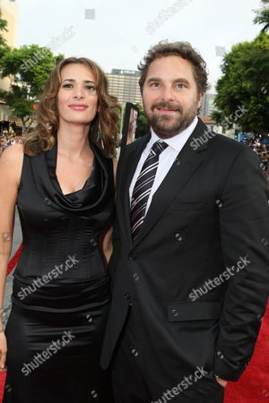 WESTWOOD, CA - JULY 08: Jane Komarnicki and Producer Todd Komarnicki at 20th Century Fox World Premiere of 'Meet Dave' on July 08, 2008 at the Mann Village Theatre in Westwood, CA.