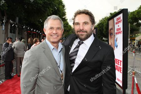 WESTWOOD, CA - JULY 08: Regency's Hutch Parker and Producer Todd Komarnicki at 20th Century Fox World Premiere of 'Meet Dave' on July 08, 2008 at the Mann Village Theatre in Westwood, CA.