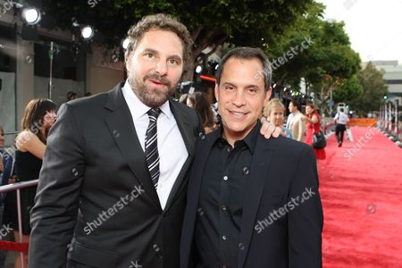 WESTWOOD, CA - JULY 08: Producer Todd Komarnicki and Director Brian Robbins at 20th Century Fox World Premiere of 'Meet Dave' on July 08, 2008 at the Mann Village Theatre in Westwood, CA.