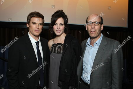 BEVERLY HILLS, CA - JULY 18: Michael C. Hall, Mary-Louise Parker and Showtime's Matt Blank at Showtime's Television Critics Association Press Tour held at the Beverly Hilton hotel on July 18, 2008 in Beverly Hills, California.