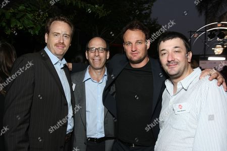 HOLLYWOOD, CA - JULY 18: Showtime's Bob Greenblatt, Showtime's Matt Blank, Jason Clarke and Brotherhood's Exec. Producer Blake Masters at Showtime's TCA Stars Party at Boulevard 3 on July 18, 2008 in Hollywood, California.
