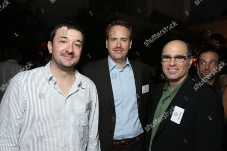 HOLLYWOOD, CA - JULY 18: Brotherhood's Exec. Producer Blake Masters, Showtime's Bob Greenblatt and Dexters's Exec. Producer Clyde Phillips at Showtime's TCA Stars Party at Boulevard 3 on July 18, 2008 in Hollywood, California.
