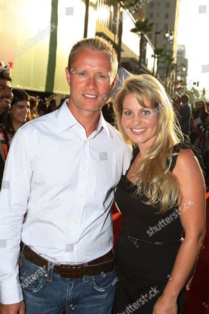 HOLLYWOOD, CA - JULY 24: Valeri Bure and Candace Cameron Bure at the World Premiere of Touchstone Pictures' 'Swing Vote' on July 24, 2008 at the El Capitan Theatre in Hollywood, CA.