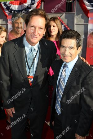 HOLLYWOOD, CA - JULY 24: Producer Jim Wilson and Hall of Fame jockey Laffit Pincay Jr. at the World Premiere of Touchstone Pictures' 'Swing Vote' on July 24, 2008 at the El Capitan Theatre in Hollywood, CA.