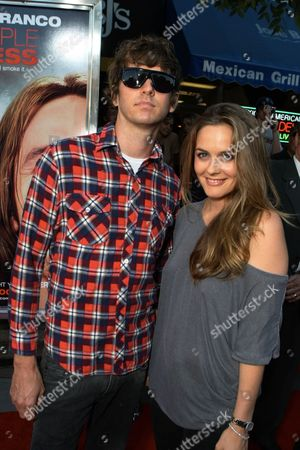 WESTWOOD, CA - JULY 31: Christopher Jarecki and Alicia Silverstone at the Premiere of Columbia Pictures' 'Pineapple Express' on July 31, 2008 at Mann Village Theatre, CA.