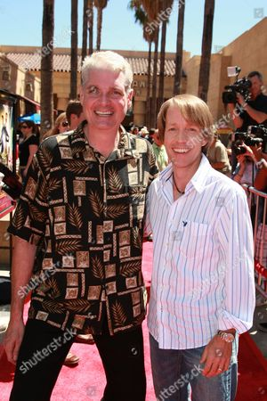 HOLLYWOOD, CA - AUGUST 10: Tom Kane and James Arnold Taylor at US Premiere of Warner Bros. 'Star Wars: The Clone Wars' on August 10, 2008 at the Egyptian Theatre in Hollywod, CA.