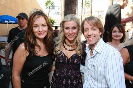 HOLLYWOOD, CA - AUGUST 10: Catherine Taber, James Arnold Taylor and Ashley Eckstein at US Premiere of Warner Bros. 'Star Wars: The Clone Wars' on August 10, 2008 at the Egyptian Theatre in Hollywod, CA.