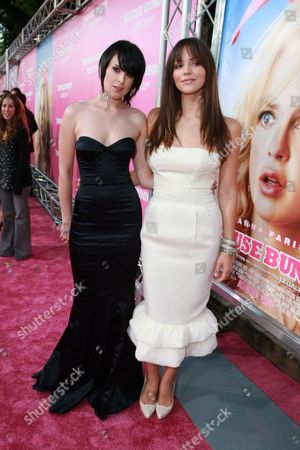 Stock Image of WESTWOOD, CA - AUGUST 20: Rumer Willis and Katherine McPhee at Columbia Pictures Premiere of 'The House Bunny' on August 20, 2008 at the Mann Village Theatre in Westwood, CA.