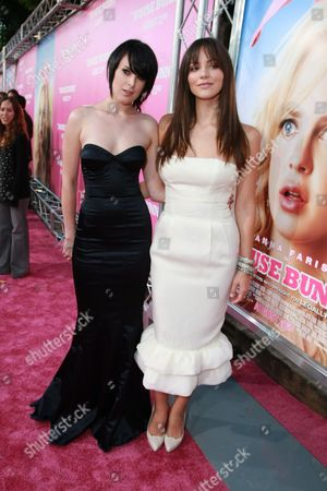Stock Photo of WESTWOOD, CA - AUGUST 20: Rumer Willis and Katherine McPhee at Columbia Pictures Premiere of 'The House Bunny' on August 20, 2008 at the Mann Village Theatre in Westwood, CA.