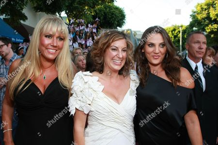 Stock Image of WESTWOOD, CA - AUGUST 20: Exec. Producer/Writer Kirsten Smith, Exec. Producer/Writer Karen McCullah Lutz and Dana Goodman at Columbia Pictures Premiere of 'The House Bunny' on August 20, 2008 at the Mann Village Theatre in Westwood, CA.