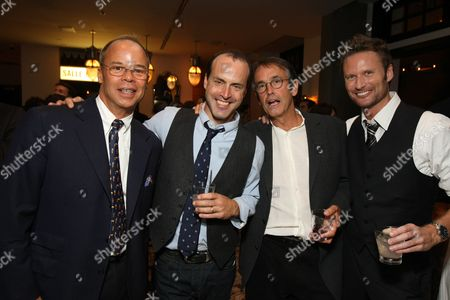 HOLLYWOOD, CA - SEPTEMBER 16: **EXCLUSIVE** Exec. Producer Edward McDonnell, Director D. J. Caruso, Producer Patrick Crowley and Composer Brian Tyler at the Los Angeles Premiere of Dreamworks' 'Eagle Eye' on September 16, 2008 at the Mann's Grauman Chinese Theatre in Hollywood, CA.