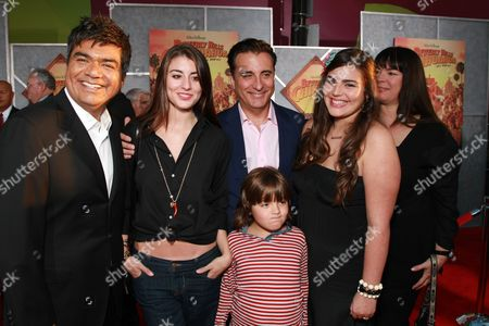 LOS ANGELES, CA - SEPTEMBER 18: George Lopez, Daniella Garcia-Lorido, Andy Garcia, Andres Garcia-Lorido and Alessandra Garcia-Lorido at the World Premiere of Walt Disney Pictures' 'Beverly Hills Chihuahua' on September 18, 2008 at the El Capitan Theatre in Los Angeles, CA.