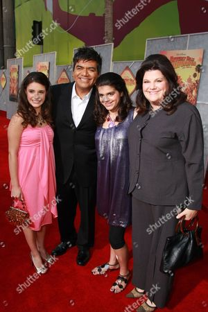 LOS ANGELES, CA - SEPTEMBER 18: George Lopez and Mayan Lopez at the World Premiere of Walt Disney Pictures' 'Beverly Hills Chihuahua' on September 18, 2008 at the El Capitan Theatre in Los Angeles, CA.