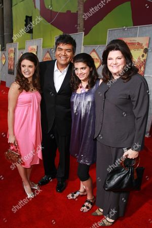LOS ANGELES, CA - SEPTEMBER 18: George Lopez, Mayan Lopez and Ann Lopez at the World Premiere of Walt Disney Pictures' 'Beverly Hills Chihuahua' on September 18, 2008 at the El Capitan Theatre in Los Angeles, CA.
