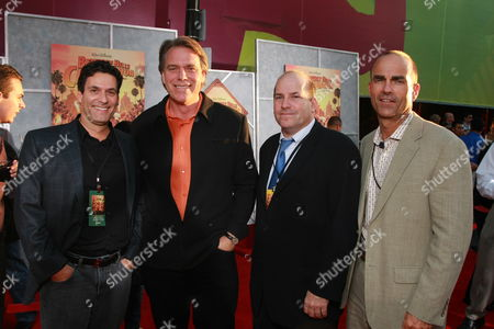 LOS ANGELES, CA - SEPTEMBER 18: Disney's Oren Aviv, Director Raja Gosnell, Producer John Jacobs and Disney's Mark Zoradi at the World Premiere of Walt Disney Pictures' 'Beverly Hills Chihuahua' on September 18, 2008 at the El Capitan Theatre in Los Angeles, CA.
