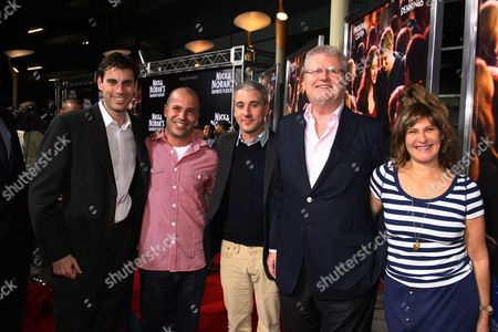 Stock Photo of LOS ANGELES, CA - OCTOBER 02: Sony's Marc Weinstock, Exec. Producer Nathan Kahane, Sony's Matt Tolmach, Sony's Sir Howard Stringer and Sony's Amy Pascal at Columbia Pictures 'Nick & Norah's Infinite Playlist' Premiere on October 02, 2008 at Archlight Hollywood in Los Angeles, CA.