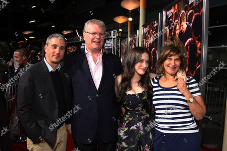 LOS ANGELES, CA - OCTOBER 02: Sony's Matt Tolmach, Sony's Sir Howard Stringer, Kat Dennings and Sony's Amy Pascal at Columbia Pictures 'Nick & Norah's Infinite Playlist' Premiere on October 02, 2008 at Archlight Hollywood in Los Angeles, CA.