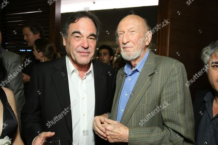LOS ANGELES, CA - OCTOBER 06:**EXCLUSIVE** Director Oliver stone and Irvin Kershner at the Los Angeles Screening of Lionsgate's 'W' on October 06, 2008 at the Landmark Theatres in Los Angeles, CA.