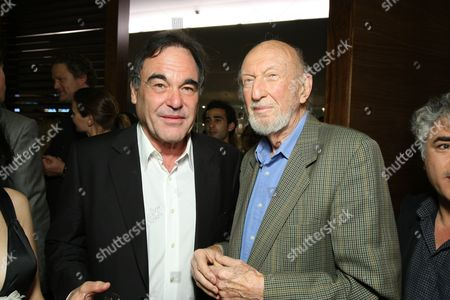 Stock Image of LOS ANGELES, CA - OCTOBER 06:**EXCLUSIVE** Director Oliver stone and Irvin Kershner at the Los Angeles Screening of Lionsgate's 'W' on October 06, 2008 at the Landmark Theatres in Los Angeles, CA.