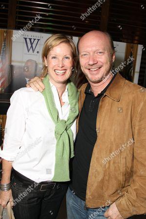 LOS ANGELES, CA - OCTOBER 06:**EXCLUSIVE** Deborah Rennard and Paul Haggins at the Los Angeles Screening of Lionsgate's 'W' on October 06, 2008 at the Landmark Theatres in Los Angeles, CA.