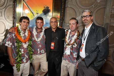 HOLLYWOOD, CA - OCTOBER 07: Mark Towill, Kit Will, Co-Producer/Editor Paul Crowder, Chris Welch and Director/Co-Writer Mark Monroe at The World Premiere of Walt Disney Pictures' 'Morning Light' on October 07, 2008 at the El Capitan Theatre in Hollywood, CA.